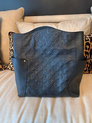 Women's LOUIS VUITTON Bagatelle Monogram Leather Bag Empreinte Black Handbag