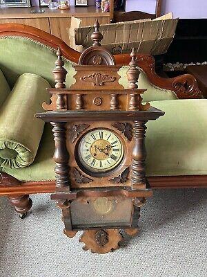 19th Century Mahogany German Wall Clock 1880-1890