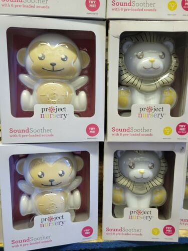 Project Nursery Sound Soother with 6 Preloaded Sounds Monkey or Lion