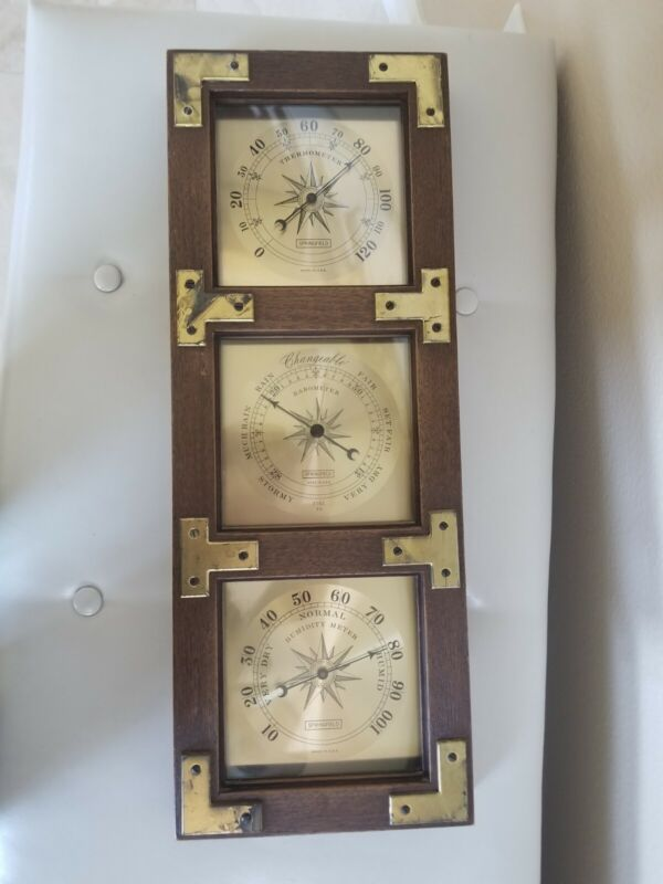 VTG Springfield Instruments WEATHER STATION Thermometer Barometer Humidity USA