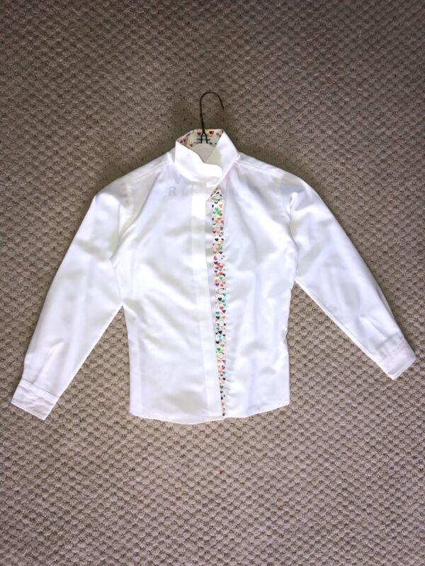 R.J. classics prestige collection girls show shirt white
