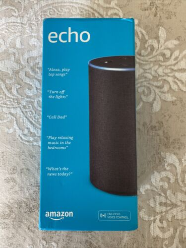 NEW NEW IN BOX Amazon Echo 2nd Generation Smart Assistant - Charcoal Fabric - $59.00