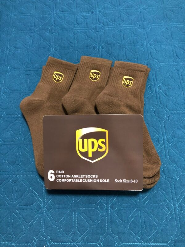 Ups socks 6 pairs anklet lenght brand new size M 8-10