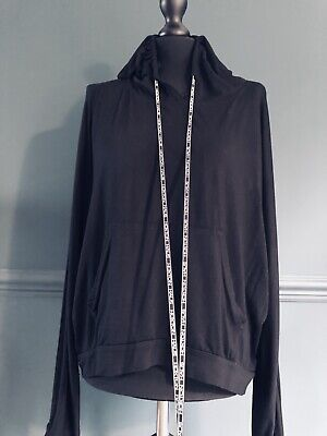 Hoxton Haus 'Lydia' Sport/Casual Hoodie Top Black Size L VGC Has Pockets ❤️