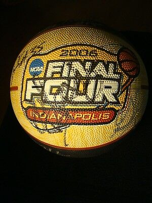 2006 FINAL FOUR LOGO BASKETBALL AUTOGRAPHED BY 12 MEMBERS OF THE LSU TIGERS