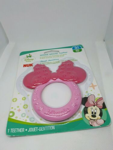 New Baby NUK Disney Minnie Mouse Teether Pink BPA Free