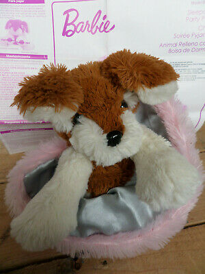 Barbie Sleepover Party Pups Brown / White Dog Plush Puppy Animated