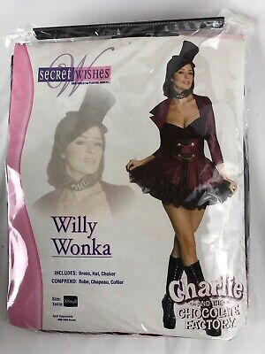 Halloween Costume Factory (Womens Sexy Willy Wonka Halloween Costume Size X-Small NEW Chocolate Factory)
