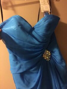 Ocean Blue Prom or Grad Dress