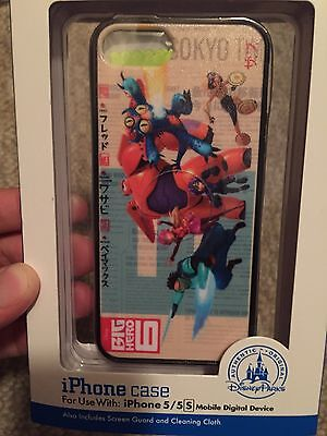 DISNEY PARKS D Tech Big Hero 6 iPhone 5 Case w/ Screen Guard & Cleaning Cloth