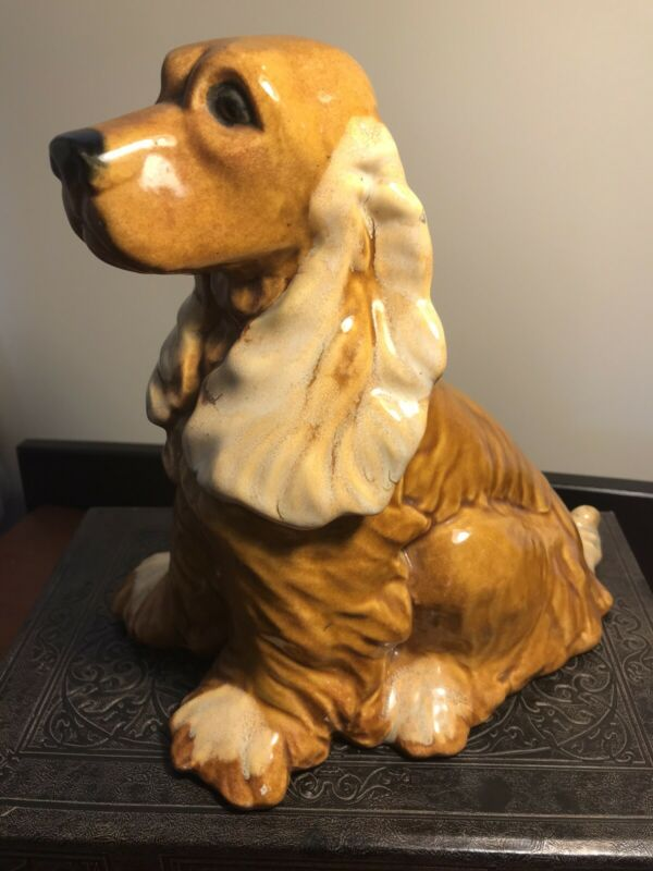 Vintage Royal Haeger USA Brown Cocker Spaniel Ceramic Dog
