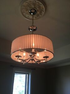 5 light chrome chandelier