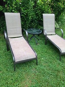Patio chaise lounge recliner chair - 1 available