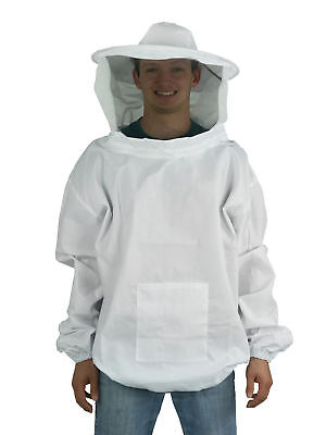 New X-large Beekeeping Bee Keeping Suit Jacket Pull Over Smock With Veil Xl