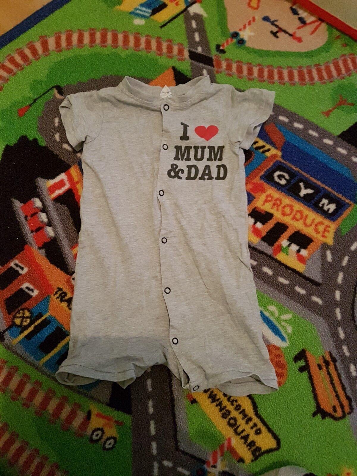 I LOVE MUM AND DAD Schlafanzug Gr.80 von H&M