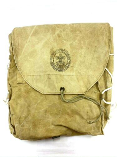 Vintage BSA Boy Scout National Council New York Backpack Canvas