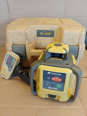 Topcon Rl-h4c Rotary Laser Level With Ls-80a Receiver
