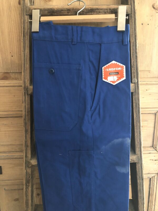 Vintage deadstock French BLEU DE TRAVAIL trouser WORK WEAR moleskine c1960
