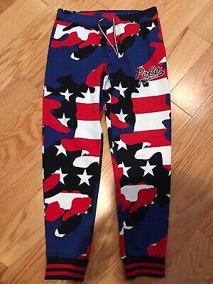POLO RALPH LAUREN Color Block Americana Track Cotton Pant USA Size XL BNWT $168 Colorblock Track Pant