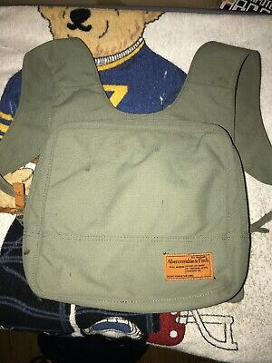 Vintage Abercrombie & Fitch Small Olive Drab Green Canvas Backpack