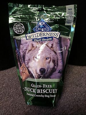 BLUE BUFFALO WILDERNESS BISCUITS DUCK DOG FOOD TREAT NATURAL 10 OZ MADE USA