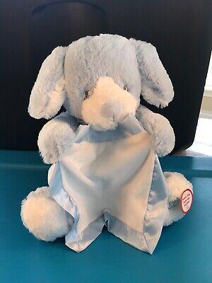 Peek A Boo Puppy GUND Blue Animated Talking Stuffed Animal Plush toy