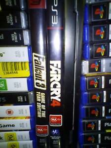 PS3 Farcry 4, Fallout 3, Dark Souls 2 (collector's edition) Waratah Newcastle Area Preview