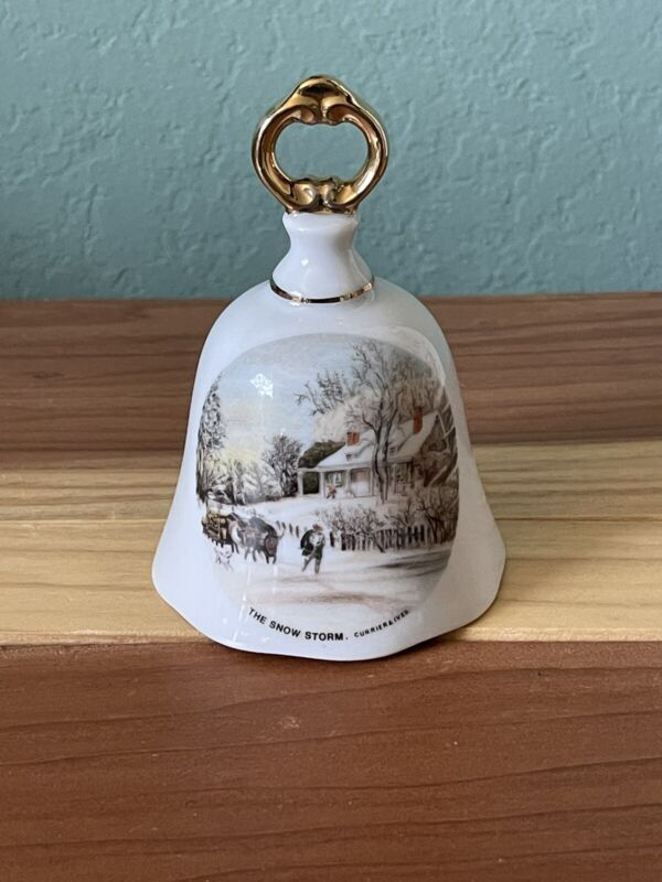 Porcelain bell Vintage The Snow Storm 4 Inches