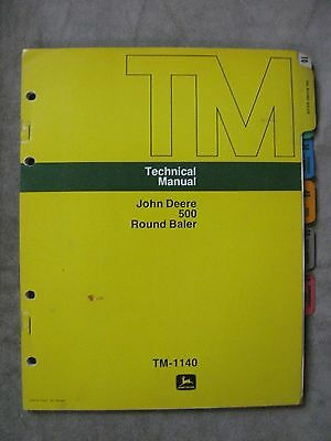 John Deere 500 Round Baler Technical Manual Tm1140