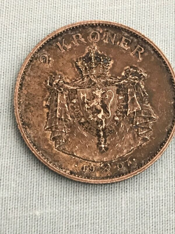 Norway - 1905 Silver 2 Kroner - Very Scarce & Nice