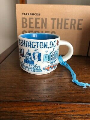STARBUCKS BEEN THERE SERIES 2 oz ORNAMENT MUG Washington DC