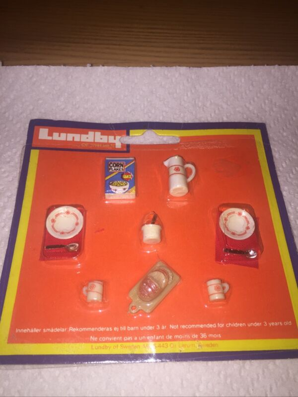 Vintage LUNDBY Dollhouse Breakfast Set.  SCARCE !