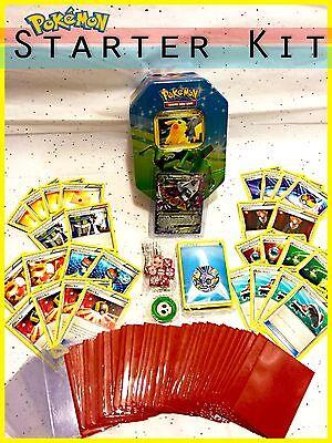 Pokemon TCG 200 Card EX Starter Kit + Trainers Energy Dice Sleeves Tin & more!