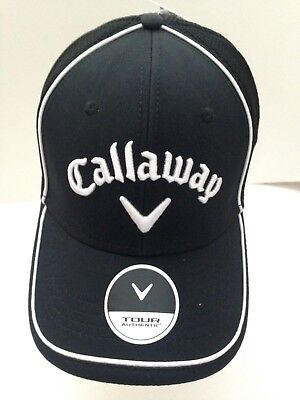 898fd77bda7 Callaway Golf Mens Tour Authentic TA Mesh Stretch Fit hat S M Black