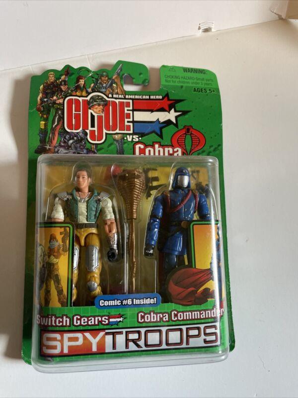 g.i. joe vs, cobra switch gears cobra commander spytroops 2003 hasbro