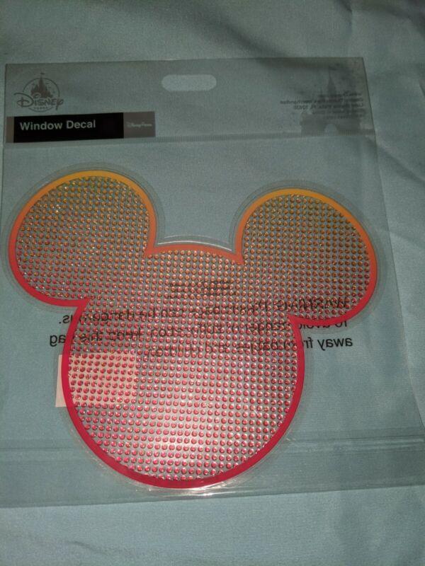 Disney Parks Mickey Sunburst Bejeweled Window Decal Car Auto Sticker NEW