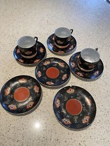 Vintage Japanese tea cups and saucers.