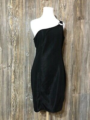 NWT Divided By H&M Women Black Cocktail Dress 12 Bodycon