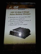 OZTRAIL 10 Amp 3 Stage Pulse Battery Charger Kallaroo Joondalup Area Preview