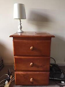 Solid Timber Bedside Table Ryde Area Preview