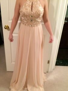 Blush pink prom / formal dress
