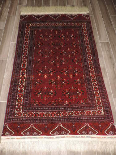 4x8ft. Tekke Turkoman Kepse Gul Bokharra Wool Rug