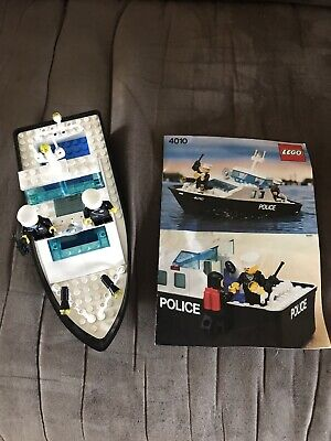 Lego City Series Police Boat #4010 Vintage Really Floats With Instructions