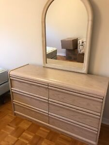 Dresser, side table and mirror for sale