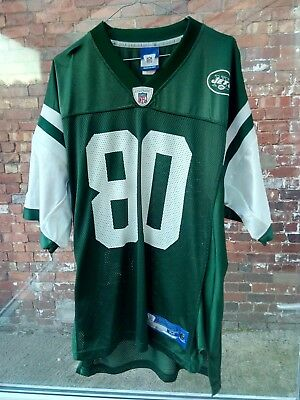 NEW YORK JETS CHREBET 80 NFL REEBOK  GREEN & WHITE AMERICAN FOOTBALL JERSEY M