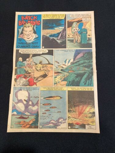 #39 BRICK BRADFORD by Clarence Gray Sunday Tabloid Full Page March 19, 1944