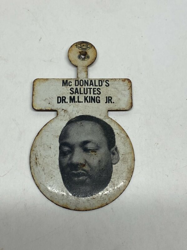 Rare Mcdonald's Salutes Dr M.L. King Jr Movement Pin MLK