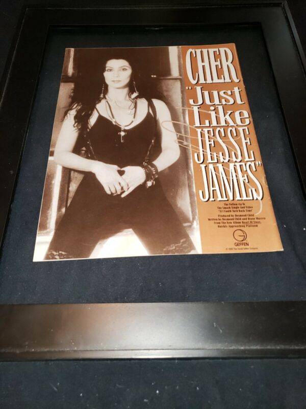 Cher Just Like Jesse James Rare Original Radio Promo Ad Framed!