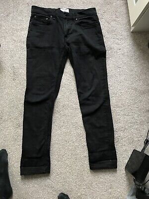 Acne Studios Ace Stay Cash Black Denim Jeans 32 W 32 L
