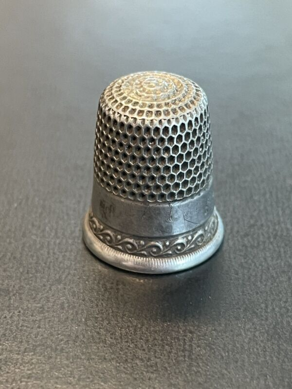 Antique Sterling Silver Thimble by Simons Bros. Size 8